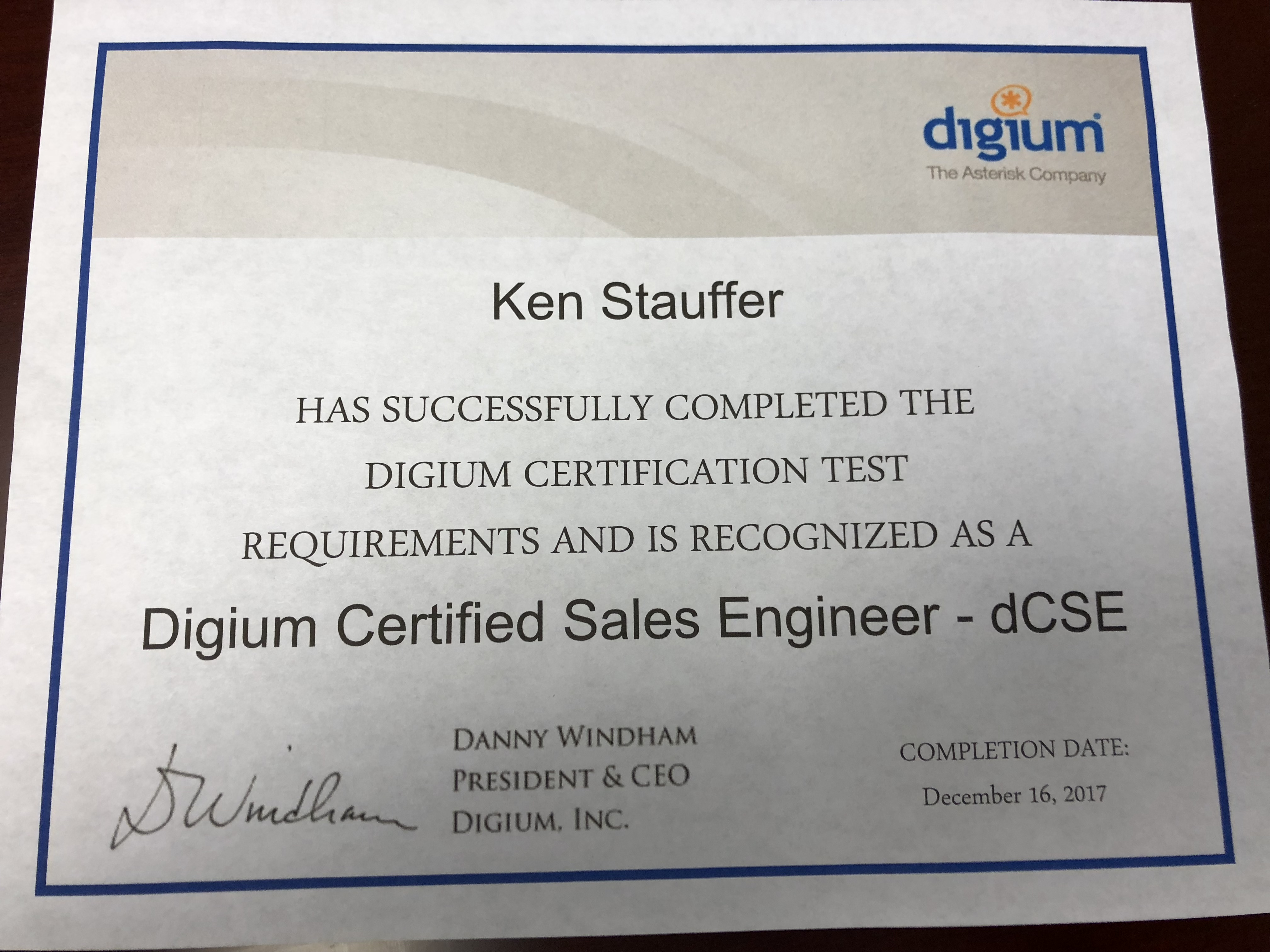 Stauffer Technologies, Digium Titanium partners